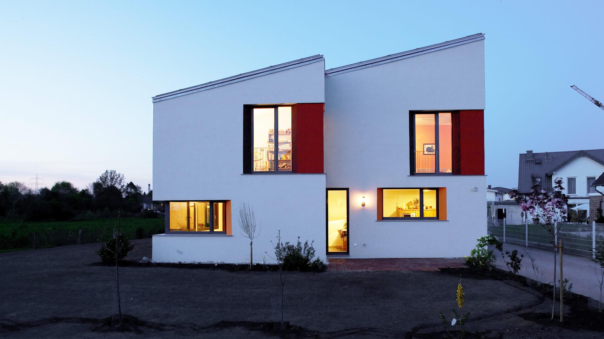 haus ha individuelles einfamilienhaus in duisburg duda. Black Bedroom Furniture Sets. Home Design Ideas